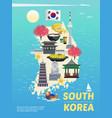 south korea tourism poster vector image