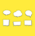speech bubble set in sketch hand drawn style vector image vector image