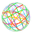 sphere with colored lines stripes around orbit vector image vector image