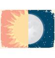 sun moon vector image vector image