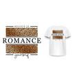 t-shirt design with leopard print slogan t-shirt vector image