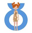 taurus zodiac symbol vector image