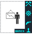 teacher icon flat vector image vector image