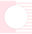 Template of pink greeting card vector image vector image