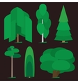 Trees graphic vector image vector image