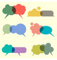 Various bubbles for speech vector image vector image