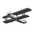 vintage aeroplane isolated on white vector image vector image