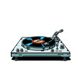 vinyl record player isolate on white background vector image vector image
