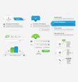 Website template infographic design menu