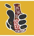 Welcome to the beer festival Poster vector image vector image