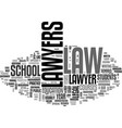 what does it take to be a lawyer text word cloud vector image vector image