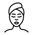 woman self care icon outline style vector image vector image