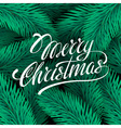 MERRY CHRISTMAS hand lettering handmade vector image