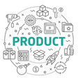 line flat circle product vector image