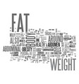 abdominal obesity the weight you put on depends vector image vector image