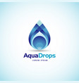 abstract aqua drops logo sign symbol icon vector image vector image