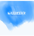 abstract blue watercolor background design vector image vector image
