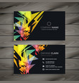 abstract dark business card design vector image vector image