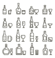 Alcohol beverages art icons or alcoholic drinks vector image vector image