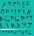 Alphabet and numbers Set vector image
