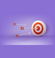 archery target and arrow design for sport game vector image