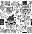 black and white seamless for coloring vector image vector image