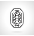 Black line icon for seafood vector image vector image