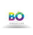 bo b o colorful letter origami triangles design vector image