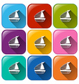 Boat icons vector image vector image