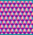 bright gradient cubic seamless pattern vector image