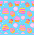 cake candy gift seamless pattern of sweets for vector image vector image