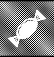candy sign icon hole in vector image