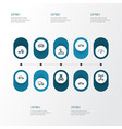 car outline icons set collection of washing vector image