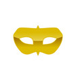carnival golden mask costume symbol graphic design vector image