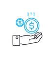 cash inflow 11 thin line stroke icon cash vector image vector image