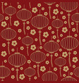 chinese traditional lanterns seamless pattern vector image vector image