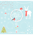 Christmas Background Decorative Elements vector image vector image