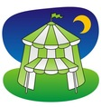 circus tent green vector image vector image