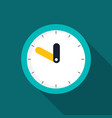 colored clock flat icon eps10 vector image