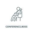conferenceboss line icon conferenceboss vector image vector image