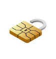 credit card emv chip padlock nfc security vector image