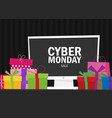 cyber monday background design eps 10 vector image vector image