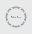 decorative circle frame vector image vector image