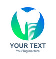 dental logo icon flat dental logo icon for web vector image