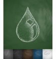 drop of oil icon vector image