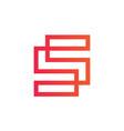 elegant line logotype s letter logo design vector image vector image