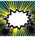 Empty comic dot speech bubble vector image vector image
