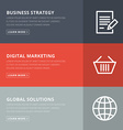 Flat design concept for business strategy and vector image