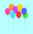 flying color ballons copy space party design vector image vector image