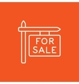 For sale signboard line icon vector image